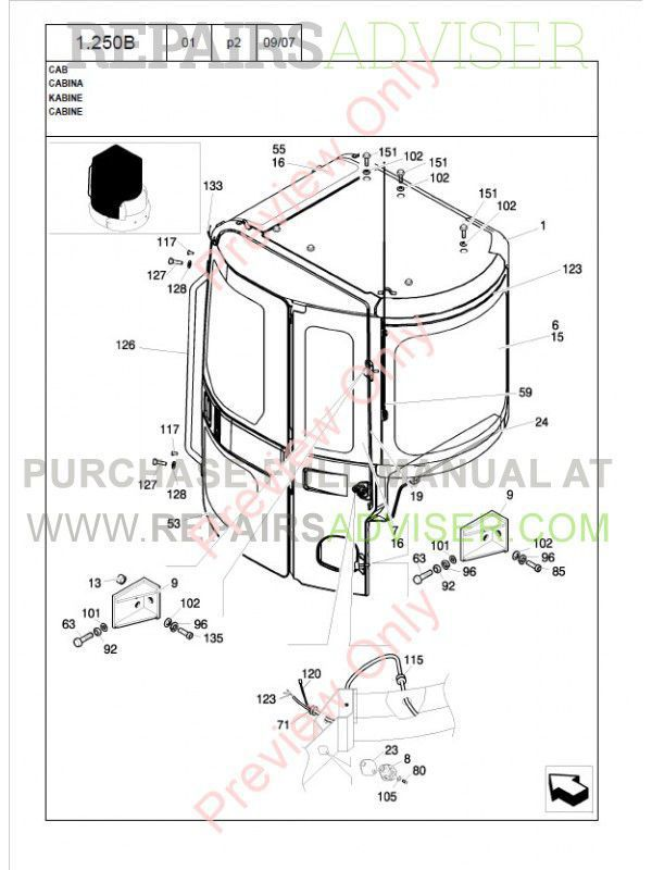 New Holland E40.2SR Crawler Excavator Parts Catalog PDF