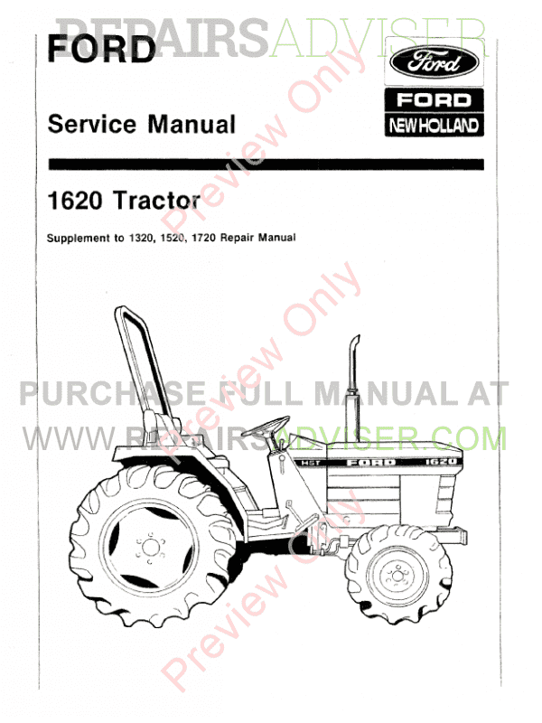 New Holland Ford 1620 Tractor Workshop Repair Manual Download