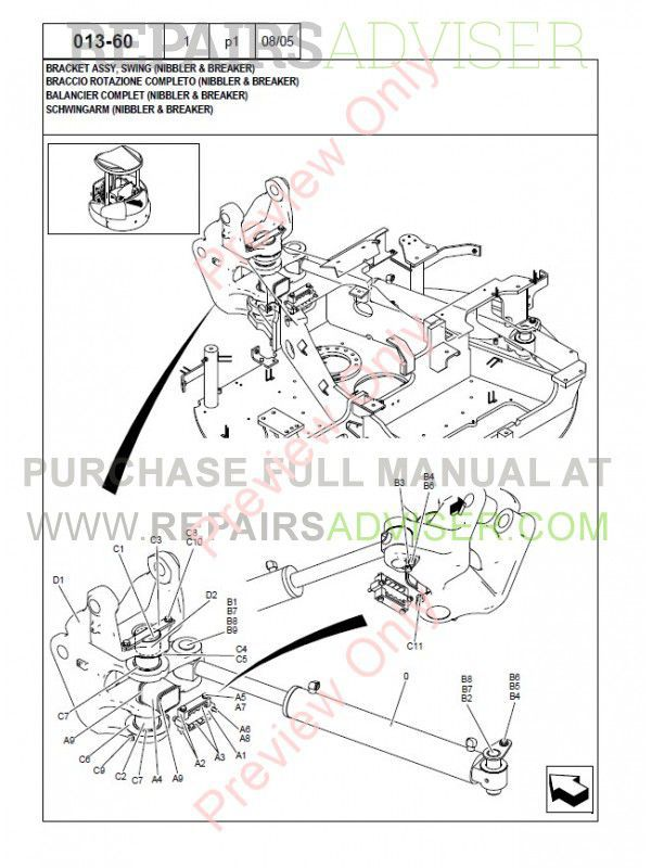 New Holland Kobelco E50.2SR Mini Crawler Excavator Parts