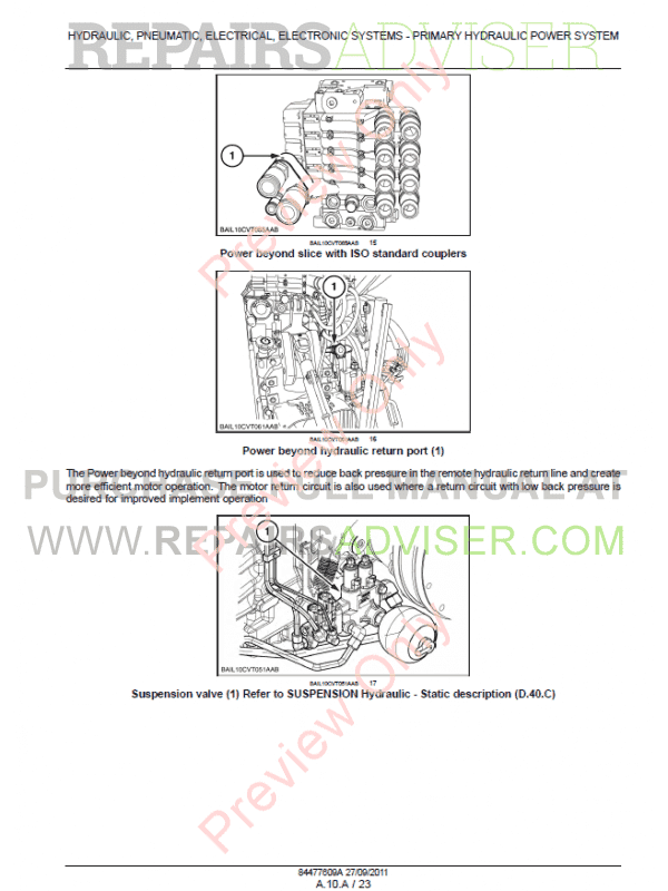 New Holland T7 Series Tractors Service Manual PDF Download