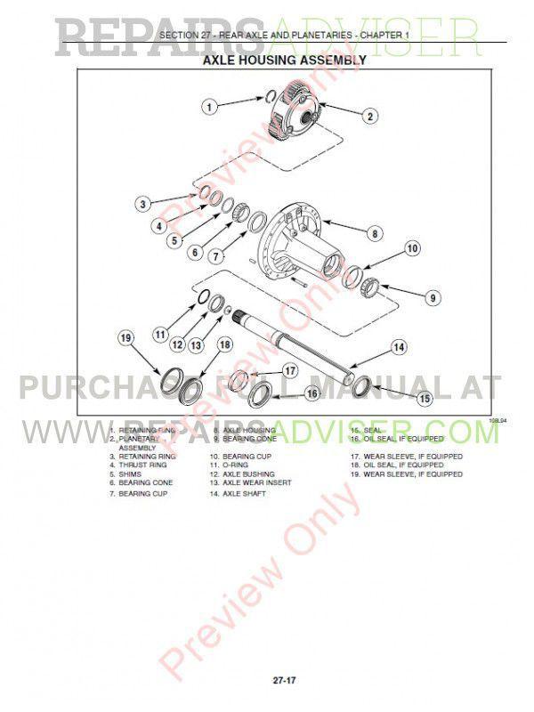 New Holland TG Series Tractors Repair Manual PDF Download