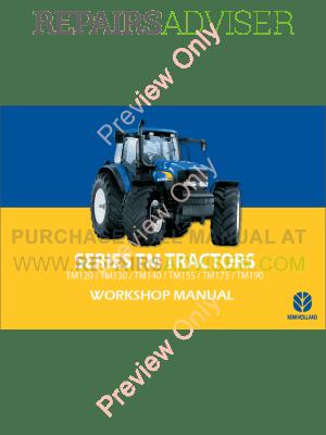 New Holland TM120TM190 Tractors Workshop Manual PDF Download