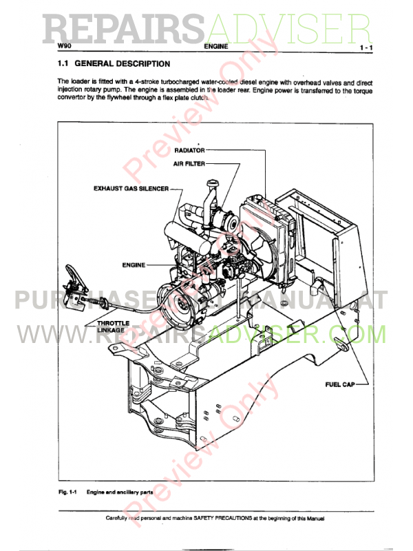 New Holland LW90 Wheel Loader PDF Service Manual Download