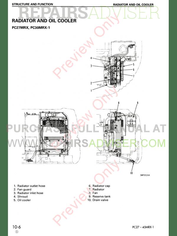 Komatsu Hydraulic Excavator PC27MRX-1, PC30MRX-1, PC35MRX