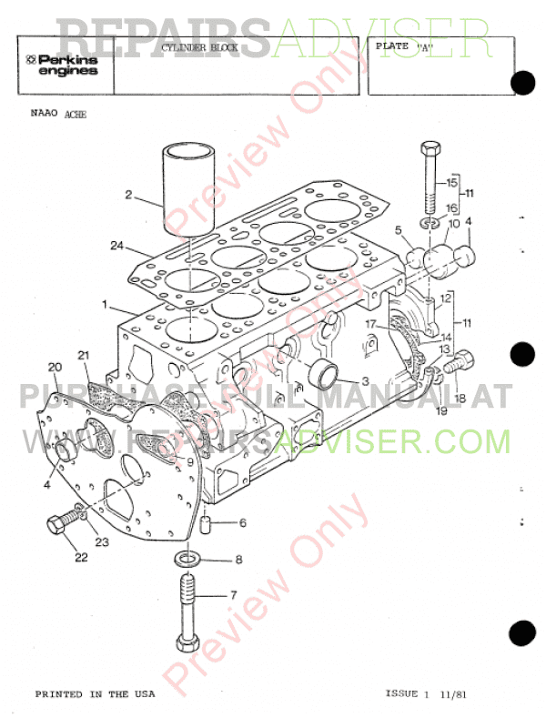 Perkins Diesel Engines 4.108M, 4.107M, 4.99M Set of PDF