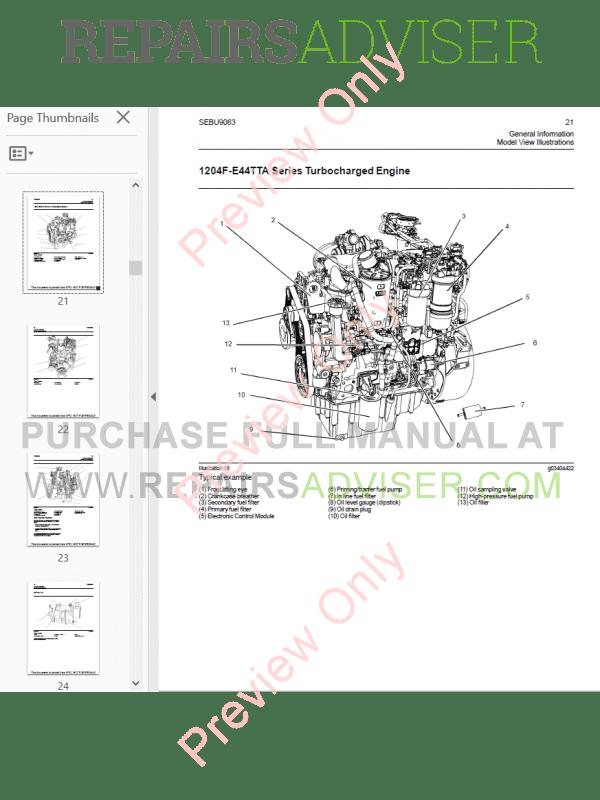 Perkins Industrial Engines 1204F Series Maintenance Manual