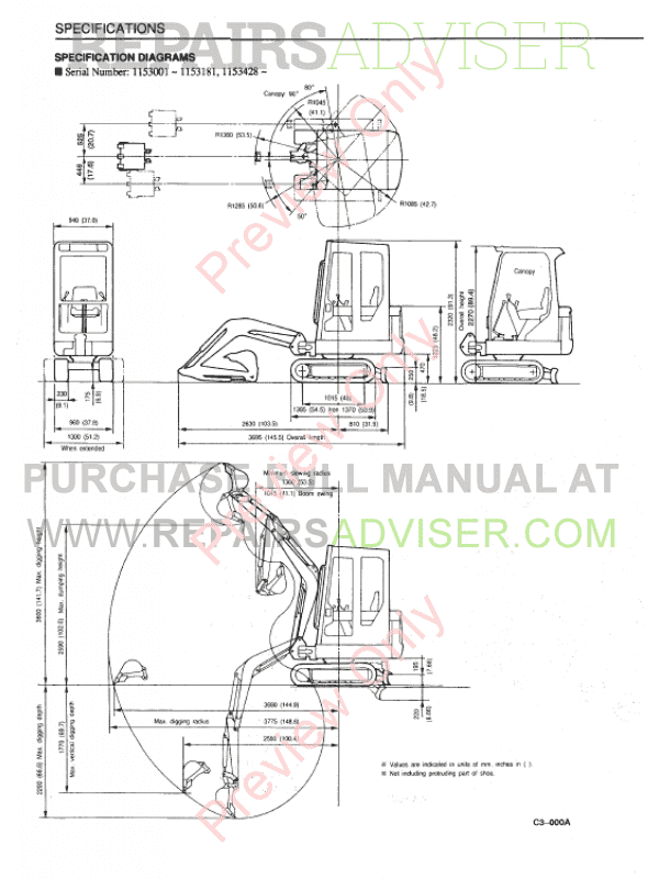 Takeuchi Excavator TB 015 PDF Workshop Manual