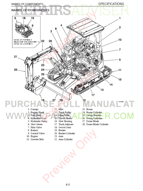 Takeuchi Compact Excavator TB23R PDF Workshop Manual Download