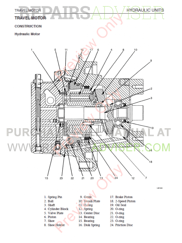 Takeuchi TB175 Compact Excavator PDF Workshop Manual