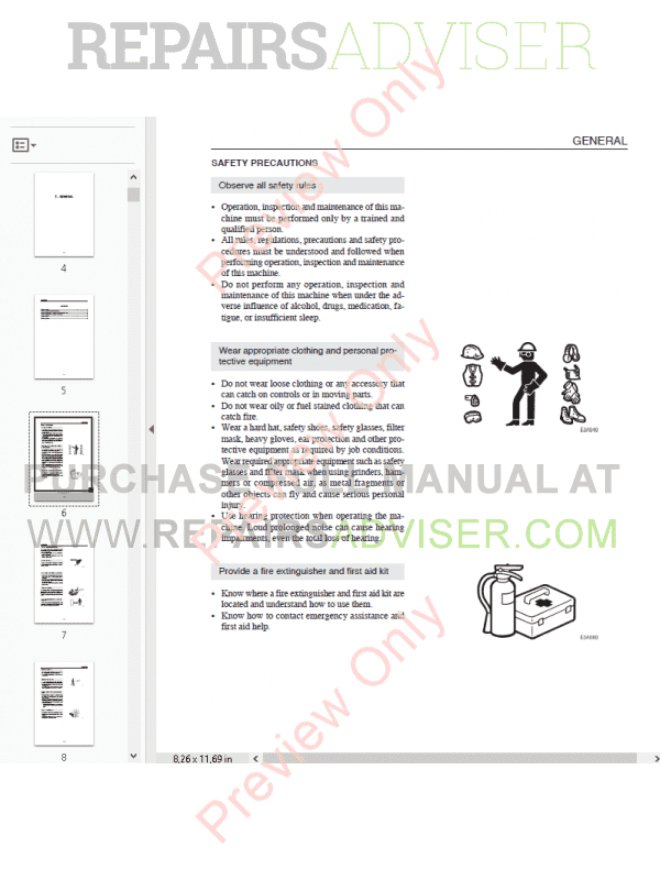 Takeuchi TB28FR Mini Excavator Workshop Manual PDF Download