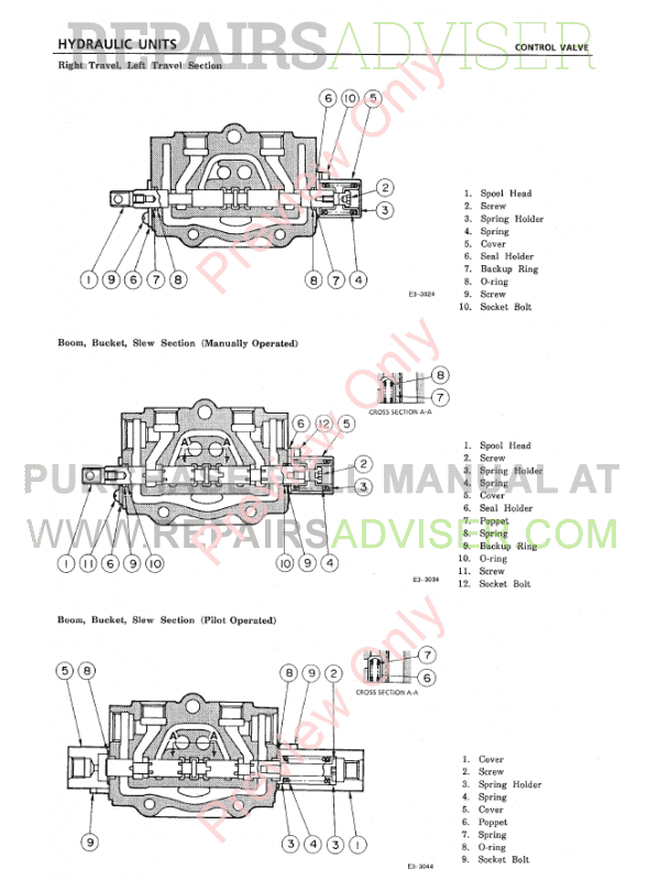 Takeuchi TBO25 TB030 TB035 Excavator Workshop Manual PDF
