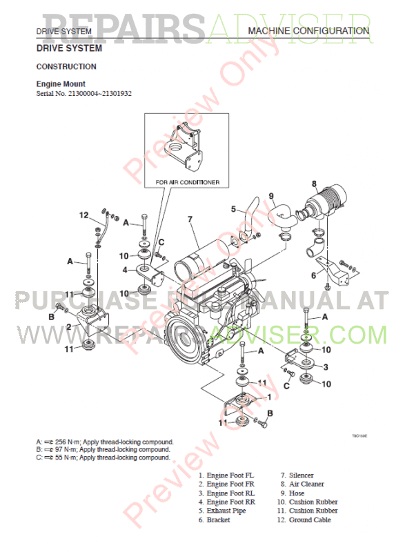 Takeuchi TL130 Crawler Loader Workshop Manual PDF Download