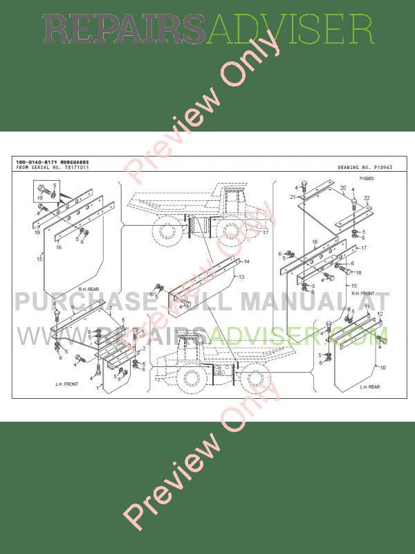 Terex TR45 Off-Highway Truck Parts Book PDF Download