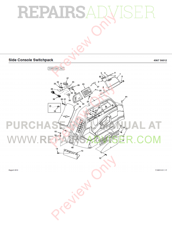 Terex 970 Backhoe Loader PDF Parts Manual Download