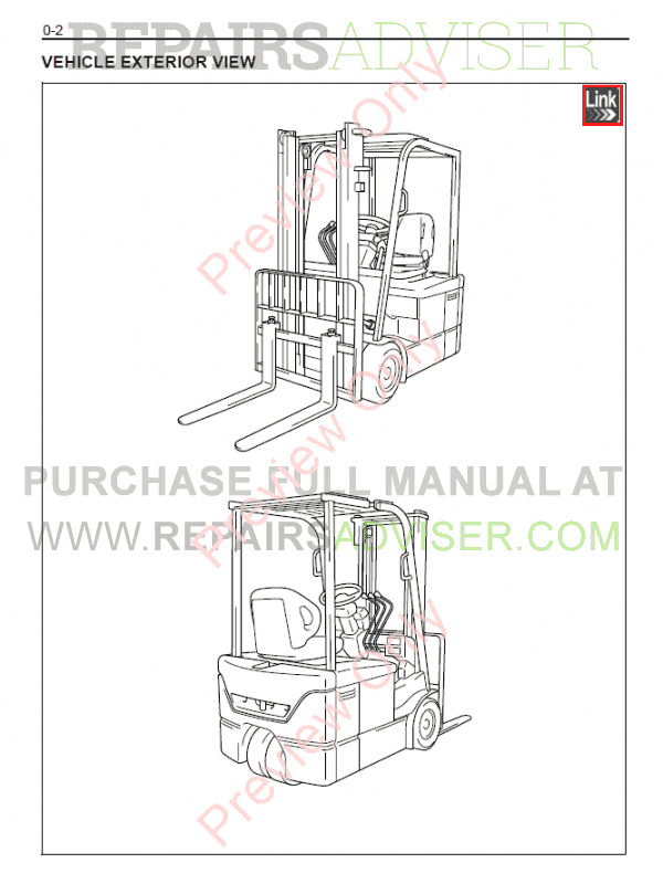 Toyota Forklifts 7 FBE13, 7 FBEF13-20 Series Manual PDF