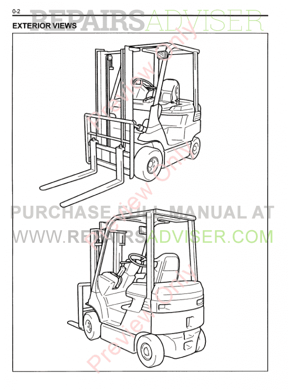 Toyota Forklifts 7FB 10-35 Series PDF Manual Download