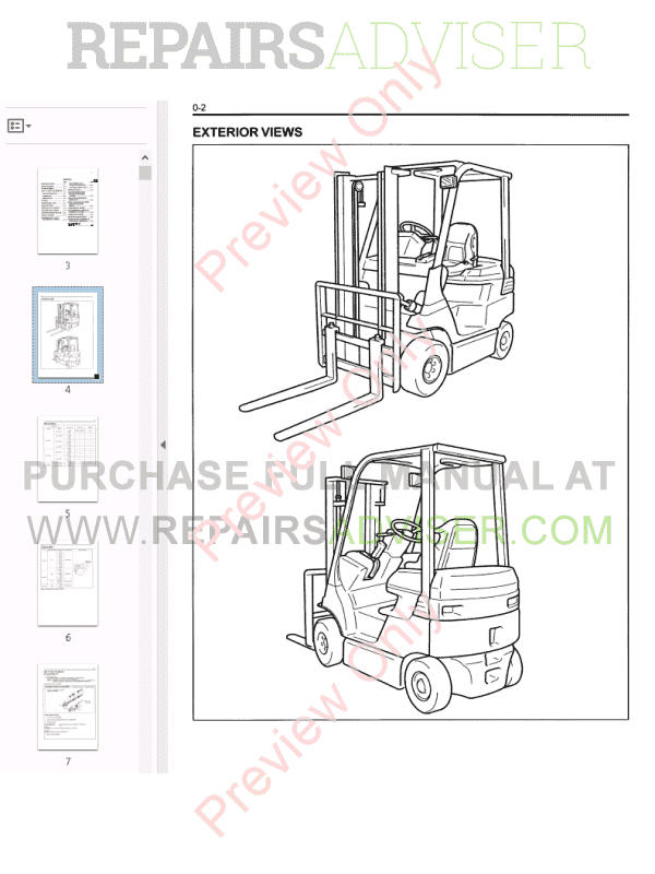 Toyota Forklifts 7FB/H 10-35 Series PDF Manual Download