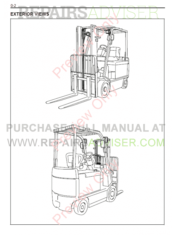 Toyota Forklifts 7FBCU 15-55 Series PDF Manual Download