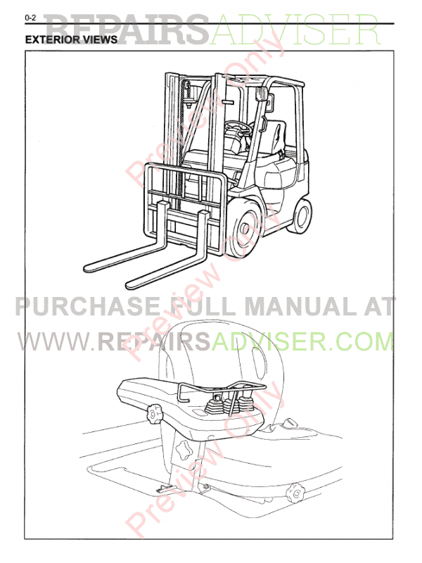 Toyota Forklift Trucks 7FD Series Set of PDF Manuals Download