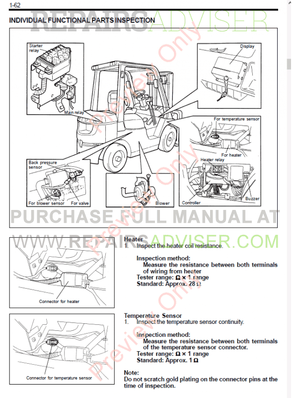 Toyota Forklifts 7 FD/FG 35-50 Series PDF Manual Download