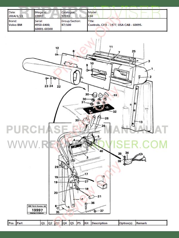 Volvo BM L50 Wheel Loader Parts Manual PDF