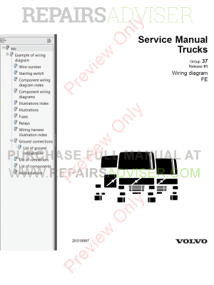 Volvo Trucks FE Wiring Diagrams Service Manuals PDF Download