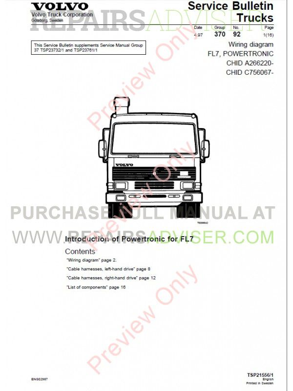 volvo trucks workshop wiring diagram