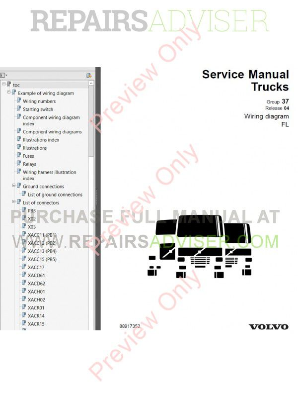 volvo fl7 fl10 wiring diagram manual