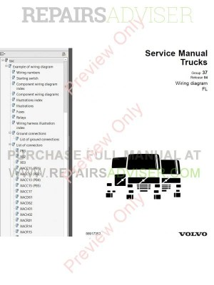 Volvo Trucks FL7 FL10 FL12 Wiring Diagram Service Manual