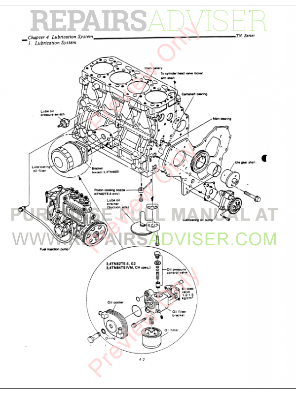 Yanmar Diesel Engine SK series for Kobelco Service Manual