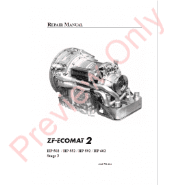 ZF 5HP-19 Transmission Repair Manual PDF Download