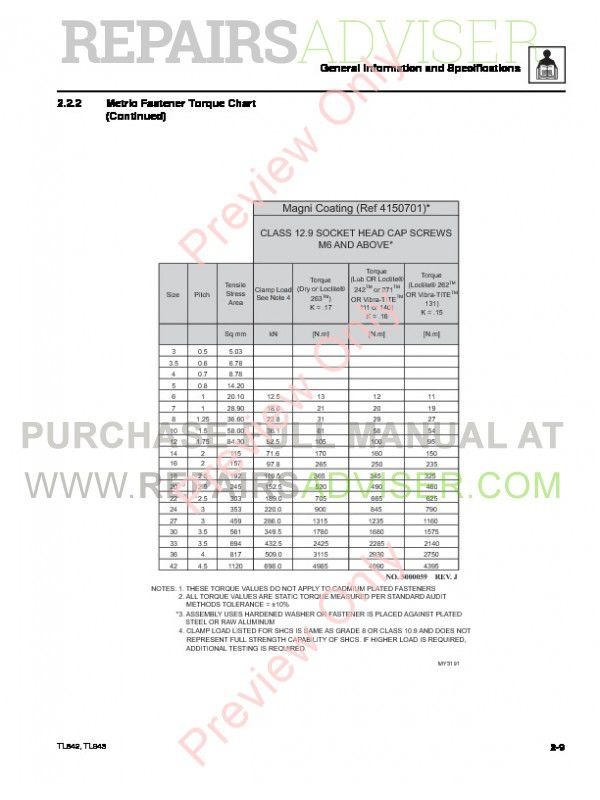 Caterpillar TL642 & TL943 Service Manual PDF Download