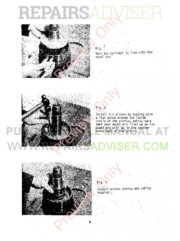John Deere Funk Series 4000 Disassemble Manual PDF Download