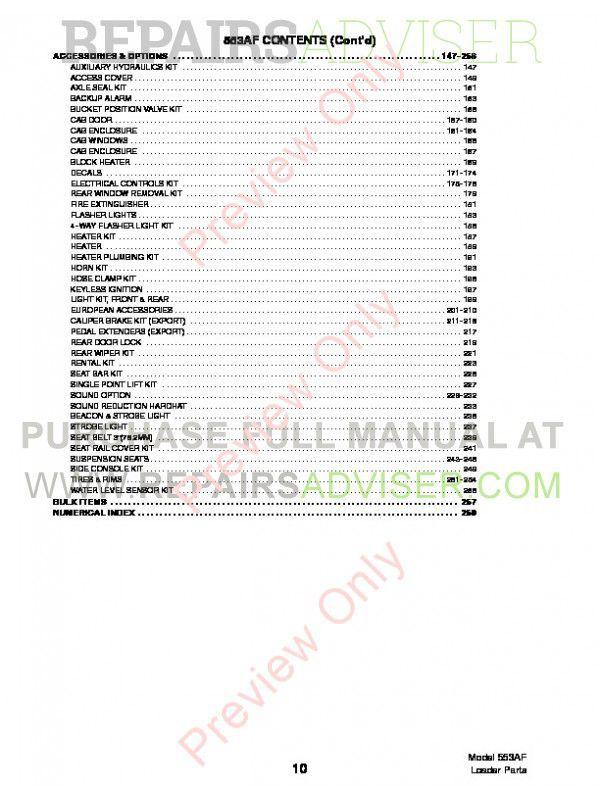 Bobcat 553 AF-Series Skid Steer Parts Manual PDF Download