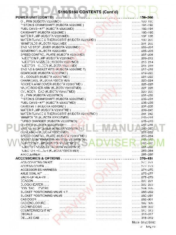 Download PDF Parts Manual Bobcat S150 S160 Turbo Loader
