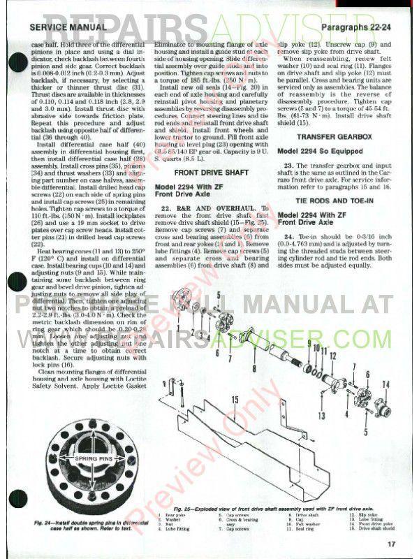 Case IH Tractors 2090/2094 2290/2294 2390/2394 2590/2594