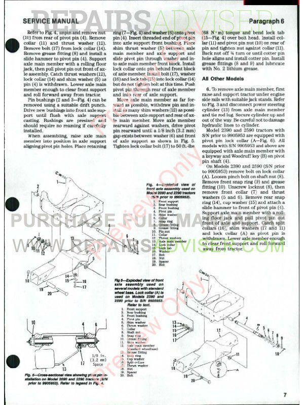 Case 2390 Tractor Wiring Diagram Case Backhoe Repair