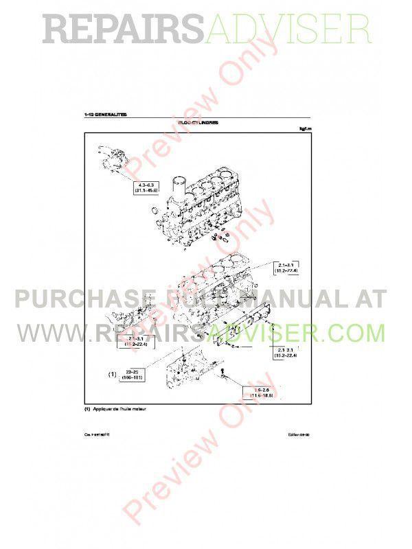 Case Isuzu Engines 4BG1T & 6BG1T Service Manual PDF Download