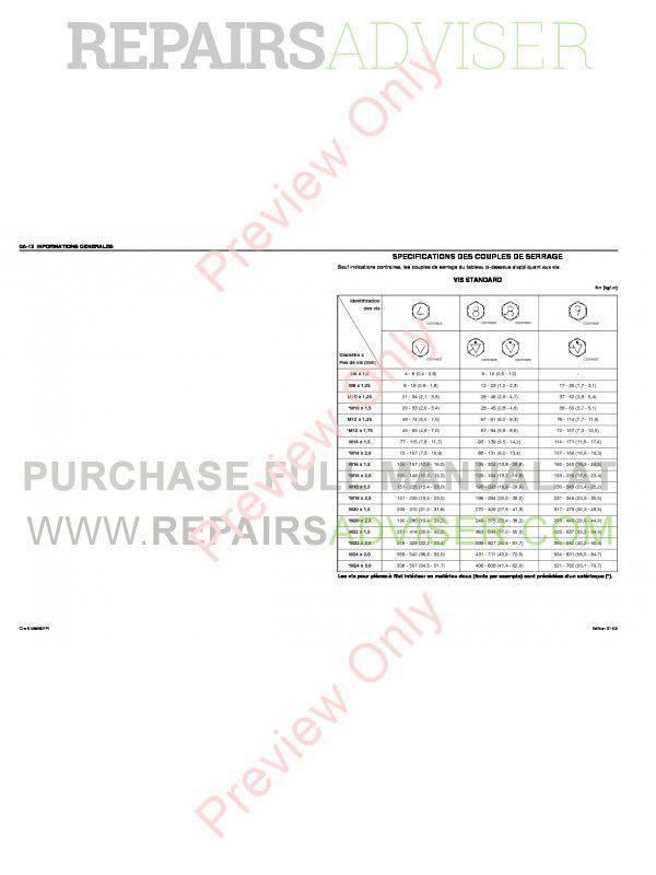 Case Isuzu Engine 6HK1 Service Manual PDF Download