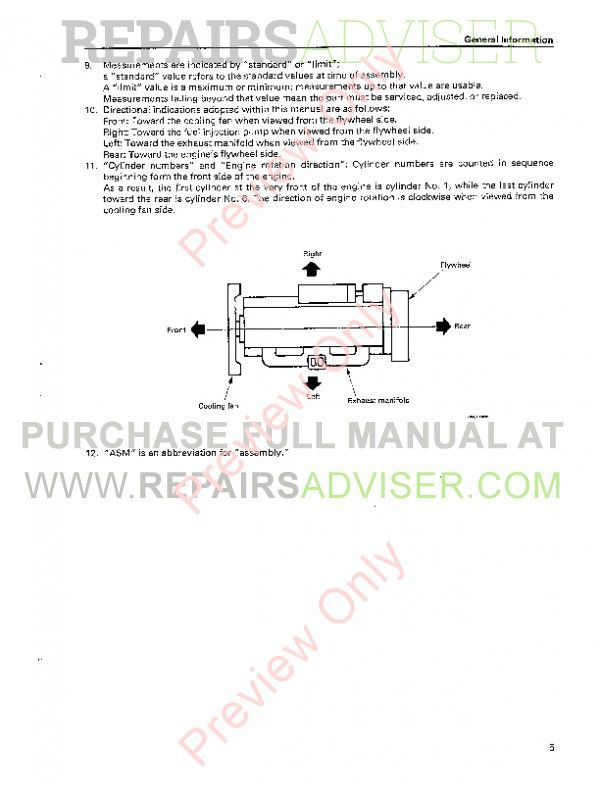 Case Isuzu Engines 6SD1T Service Manual PDF Download