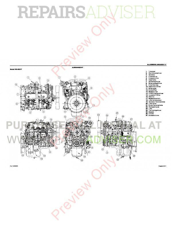 Case Isuzu Engines BB-4BG1T and BB-6BG1T Service Manual