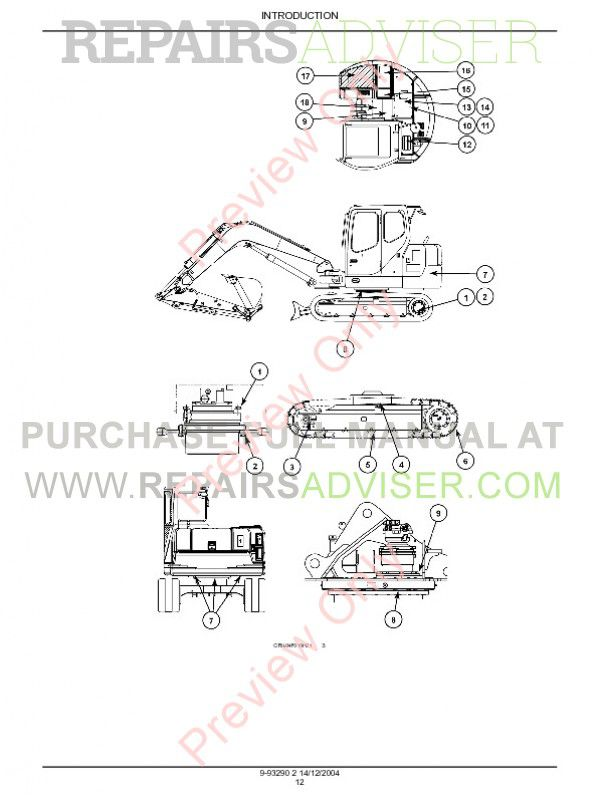 Case CX75SR-CX80 Crawler Excavators Service Manual PDF