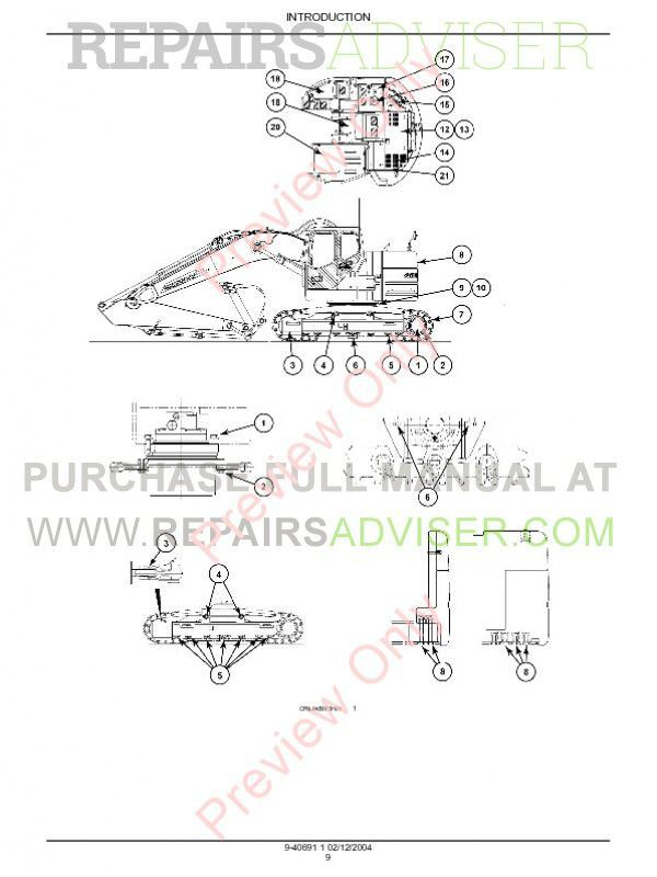 Case CX225SR Crawler Excavator Repair Manual PDF Download