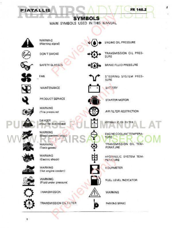 FiatAllis FR140.2Wheel Loader Operation Service Manual PDF