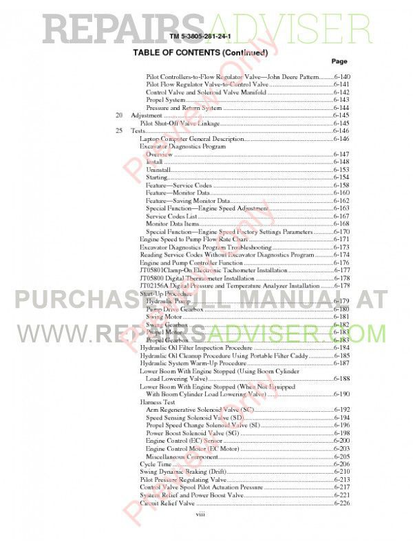 John Deere 330 LCR Hydraulic Excavator Technical Manual PDF
