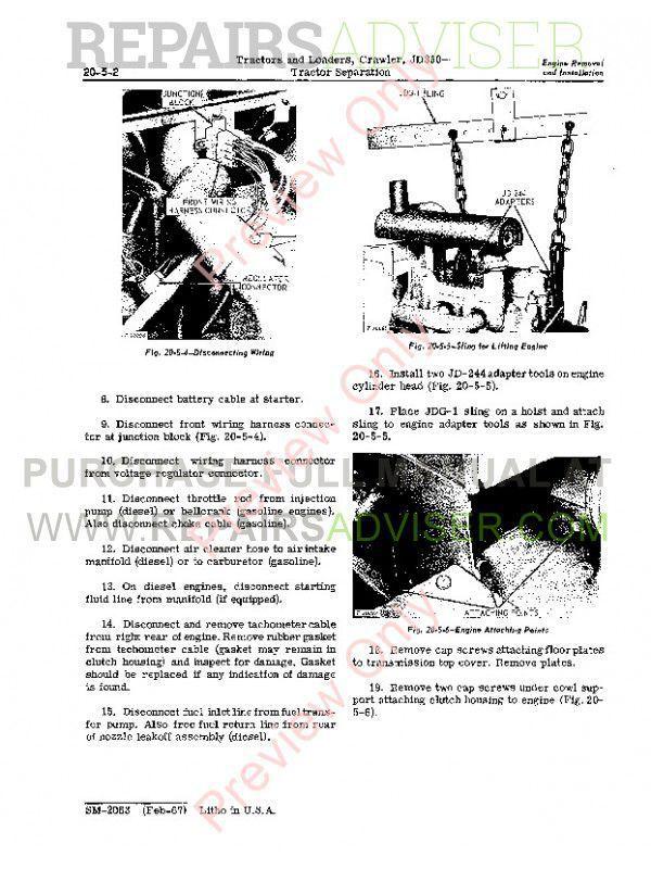 John Deere JD350 Crawler Tractors & Loaders Service Manual SM-2063 PDF Download