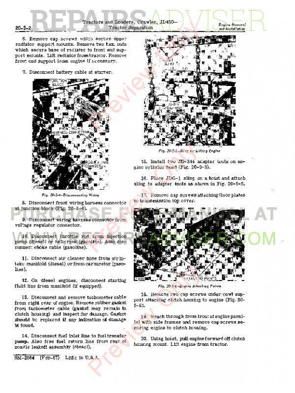John Deere JD450 Crawler Tractor and Loader Service Manual