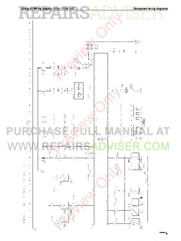 Volvo Trucks FM7/9/10/12, FH12/16, NH12 Wiring Diagrams