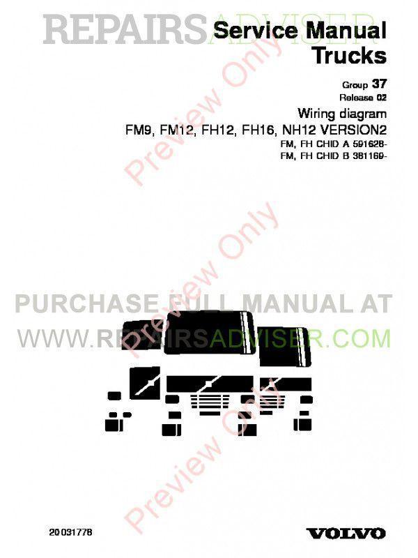 Volvo Trucks FM7-12, FH12/16, NH12 Wiring Diagram Service