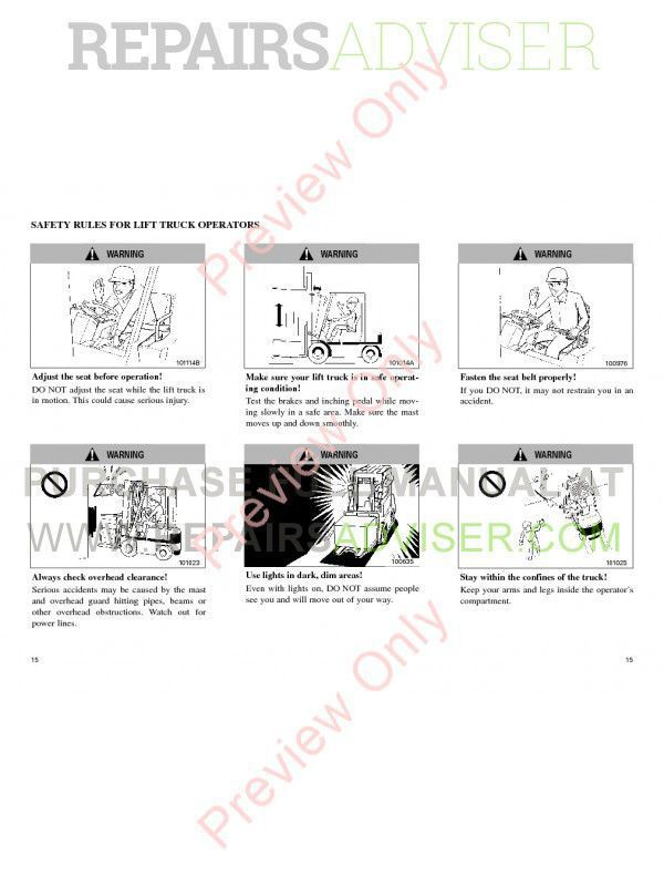 Cat GP40K/45KL, DP40/45/50K Lift Trucks Maintenance Manual PDF